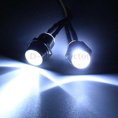 2Pcs 5mm White LED Light Headlight Kit For Universal RC 1/10 Car Truck Tank HSP