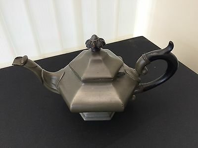 james dixon & son's pewter tea pot with ebonised handle circa 1835-41