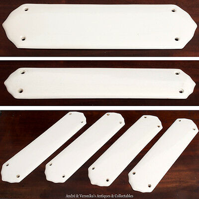 Antique Porcelain DOOR FINGER PLATES Undulated Architectural Salvage Victorian
