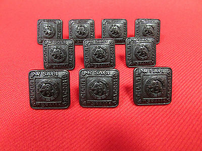 Set Of 10 Small 15mm Black Kilt Jacket Prince Charlie Crail Buttons New