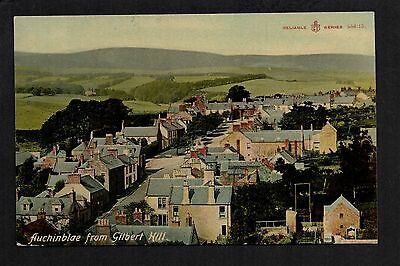 Auchinblae from Gilbert Hill - colour printed postcard