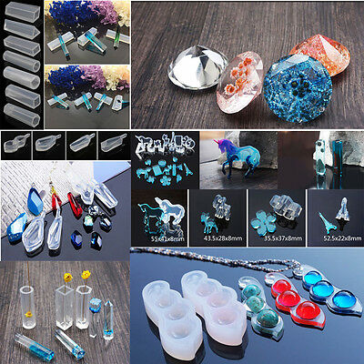 Crystal Silicone Pendant Mold Making Jewelry Ornament Resin Casting Mould Craft