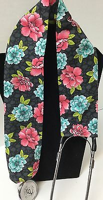 Floral Print MD RN EMT LPN Stethoscope Cover Buy 3 GET FREE SHIPPING