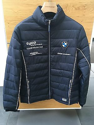 Tyco BMW team lightweight quilted down jacket size xl