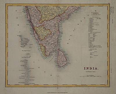 Southern Part Of India For Collins Circa 1840.