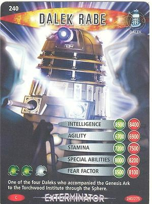 Doctor Who Battles In Time Exterminator #240 Dalek Rabe