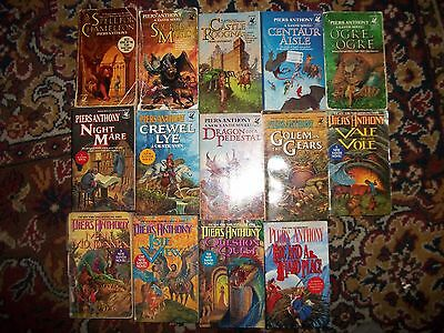 Lot of 14 Piers Anthony Xanth novels series books 1-10 12-14 19 collection set