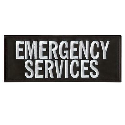 Emergency Services Large XL 10'x4' EMS embroidered body armor fastener patch