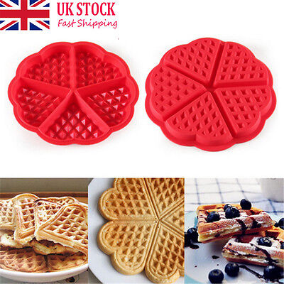 UK Seller Silicone Round Square Waffles Mould Muffin Pans Baking Cake Tray Tool