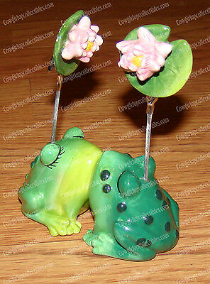 FROGS Kissing Photo Clips (MWAH Collection by Westland Giftware, 93434)