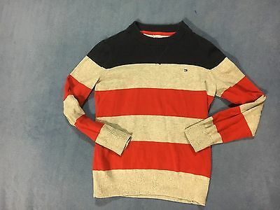 Tommy Hilfiger Boy's Blue & Red Sweater. Size Small 8-10   FREE SHIPPING