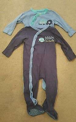 Mothercare baby boys sleepsuit 12-18 months mummy daddy loves you