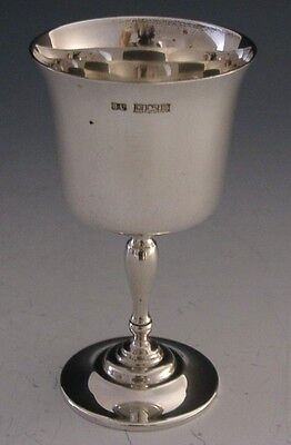 Nice Quality English Sterling Silver Chalice / Goblet 1974