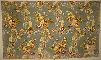 Antique Beautiful 19th French Floral Cotton Print Fabric (8579)