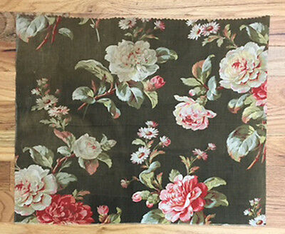 Antique 19th Century  French Cotton Floral Print  (2030)