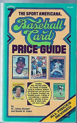 1985 Sport Americana Baseball Card Price Guide No. 7 By Beckett And Eckes