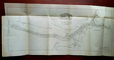 1905 Map of Main Channel Elizabeth River VA Hampton Rds to Norfolk Navy Yard