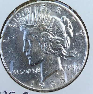 1935-S PEACE Silver Dollar Better Grade NO RES Auction
