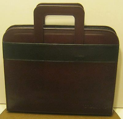 Faux Leather VOLVO Retractable Handled Folio with Zipper Closure EXCELLENT!! NR!