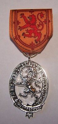 UK Royal Scotland Scottish Medal Lion King Family Clan Arms Crest Seal COA Case