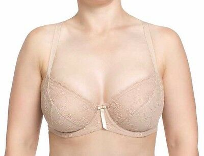 New Triumph Beige Lace Full Cup Coverage Underwire Bra 10G Rrp $49.95