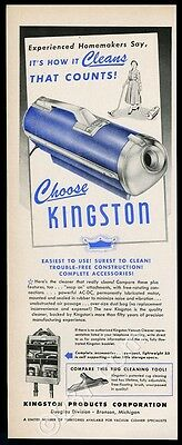 1953 Kingston vacuum cleaner photo vintage print ad