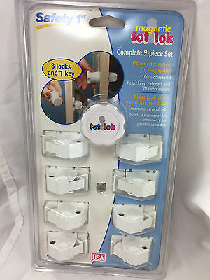 Safety 1st Magnetic Tot Lok Lock 9-Piece Set New