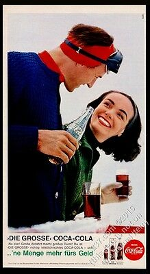 1964 Coke Coca-Cola happy couple photo German vintage print ad