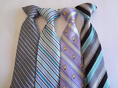 Boy's Pre-Tied -   Neck Ties (4) Ties For Ages 13 - 15 Years