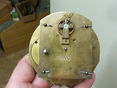 Good Antique French Clock Platform Movement - Working Fine (Gvc)