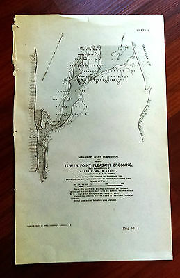 1904 Lower Point Pleasant Crossing Darnells T.H. Dredging WV Map