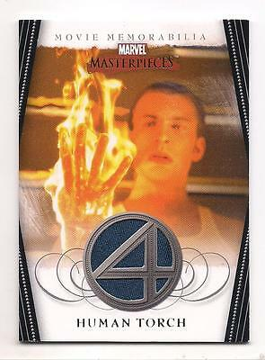 2008 Marvel Masterpieces Series 2 Human Torch Costume Relic Card Nm Chris Evans