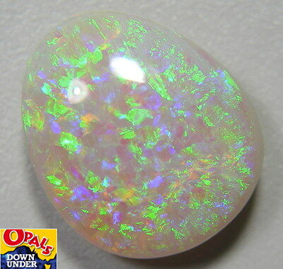 Flagstone Pattern * Gem Quality * Natural 6ct Lightning Ridge Solid Opal * Video