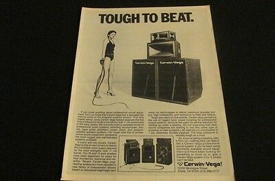 Cerwin Vega 'Tough To Beat' Professional Sound System 1981 Print Ad