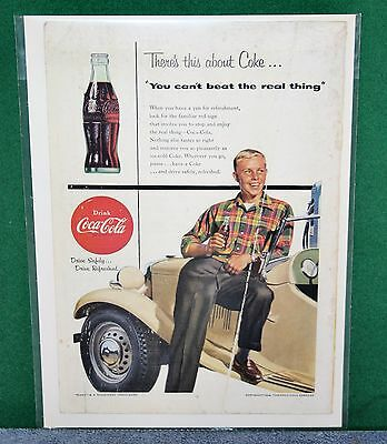 Vintage Coca Cola - COKE Advertisement Magazine Ad 1954 You Can't Beat The Real