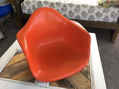 Genuine Herman Miller Eames fiberglass Arm Shell chair Orange