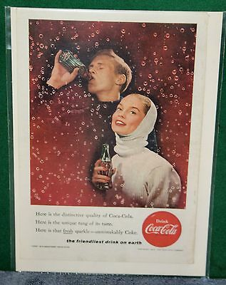 Vintage Coca Cola - COKE Advertisement Magazine Ad 1956 Friendliest Drink