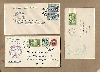 Philippines-Fine&beautiful Lot Of 3 Fdc From 1930's,#1