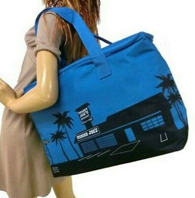 NEW Trader Joe's Blue Insulated Tote / Reusable Grocery Bag Extra Large NWT