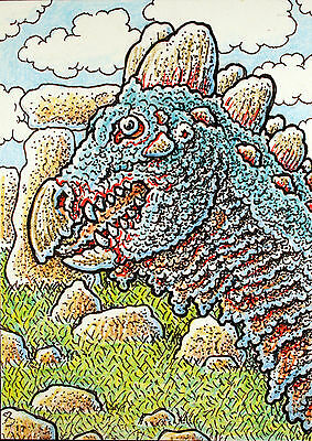 ACEO Original Fantasy Dragon by the Cryptic Stones