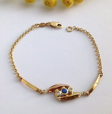 Braccialetto In Oro Giallo 18Kt Con Pietre - 18Kt Solid Yellow Gold Bracelet