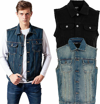 urban classics herren denim weste jeansweste jeansjacke. Black Bedroom Furniture Sets. Home Design Ideas