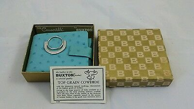 Vintage Retro Womens Buxton Blue leather wallet