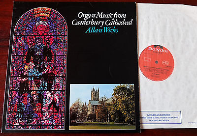 Organ Music From Canterbury Cathedral Lp Wicks Polydor (1975) Nm 2460252 England