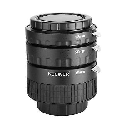 Neewer 12mm,20mm,36mm AF Auto Focus ABS Extension Tube Set for Nikon DSLR Camera
