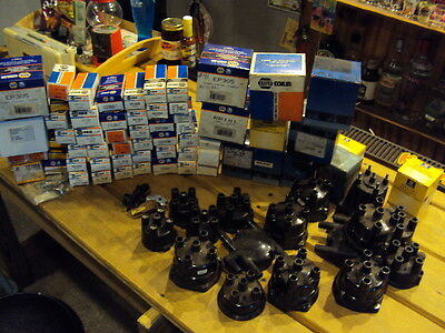 90+ Piece Lot Of 4 Cylinder Ignition Tune Up Parts