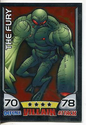 Marvel Hero Attax Series 1 Foil Base Card #32 The Fury