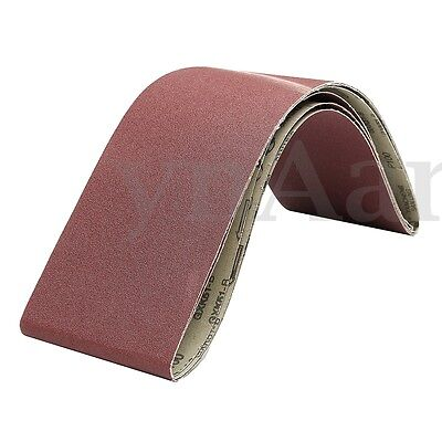 3 Pack 150 mm x 1200 mm Sanding Belt Aluminum Oxide 100 Grit Sander Fit Rate