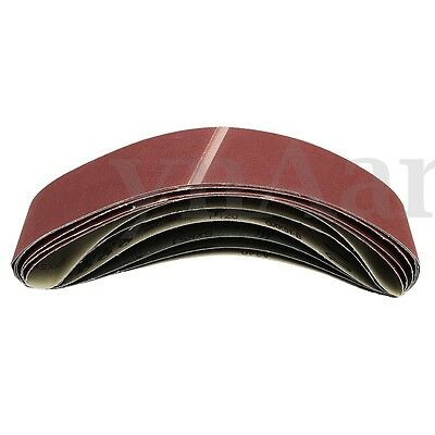 6 Pack 100x910mm Aluminum Oxide Metal Sanding Belts 80 120 180 220 320 400 Grits