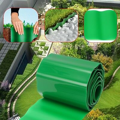 9mx15cm Plastic Garden Roll Grass Border Fence Path Lawn Wall Edge Edging Gravel